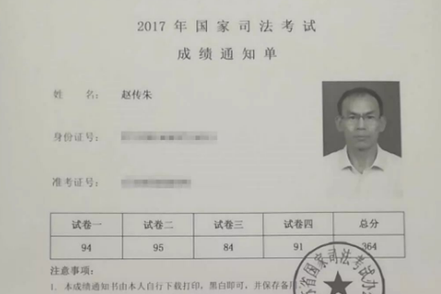 苏州50岁保安通过了司法考试 全国录取率仅10%