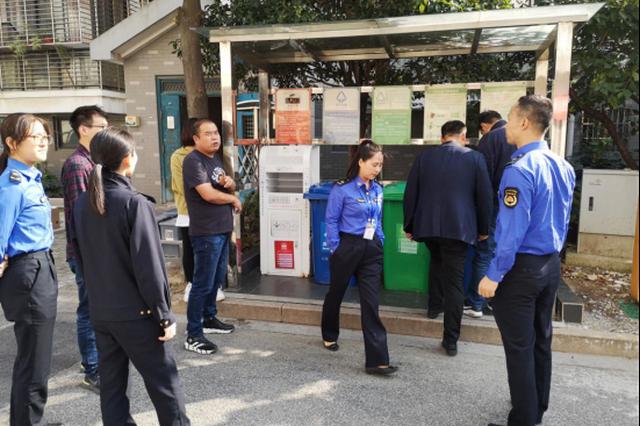 苏州市吴中区城管执法队领导调研垃圾分类及小微执法工作开展