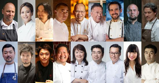 '永利名厨飨宴'及'永利客席名厨飨宴'一众名厨