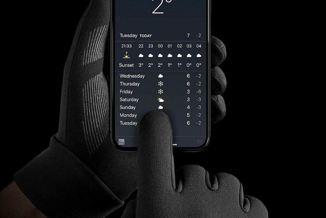 完美适配触摸屏的保暖手套