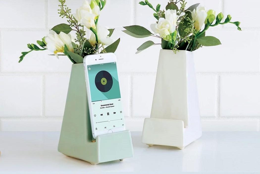 花瓶能充电?它可能是最漂亮的手机支架