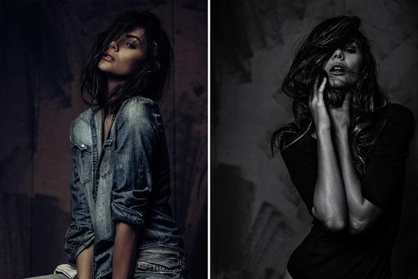 风格浓郁的肖像 光影间诠释性感身姿