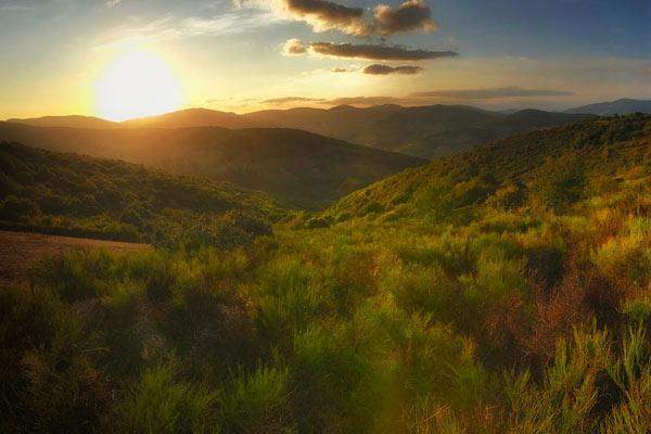 广阔无垠的自然之境 手机全景模式下的自然风光