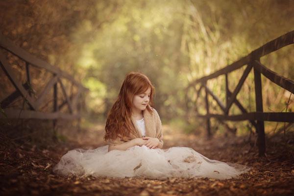秋日下的唯美儿童摄影 天真烂漫的无忧童年