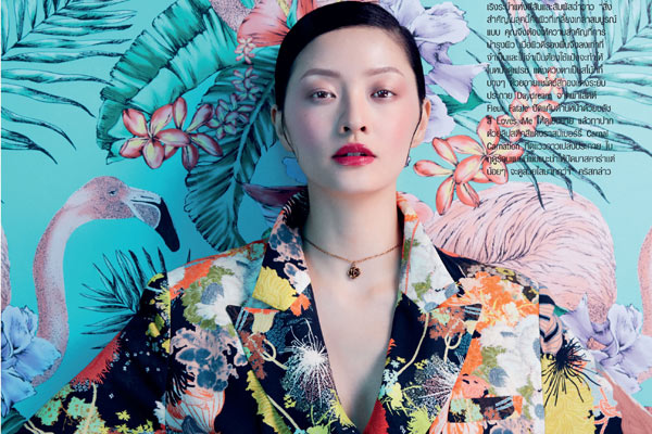 以花为题寻自然之美 时尚芭莎泰国版最新妆面大片