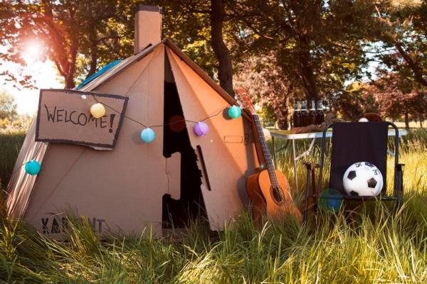 环境友好型帐篷设计 百分百回收硬纸板制造