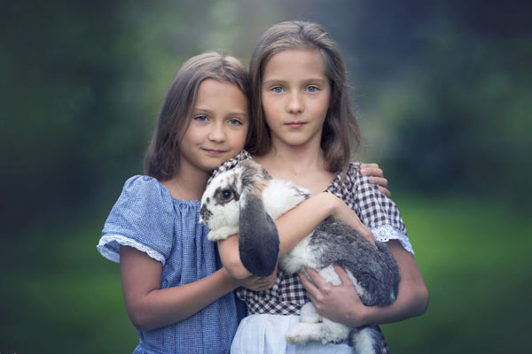极致虚化唯美儿童摄影 定格儿童与自然的亲密瞬间