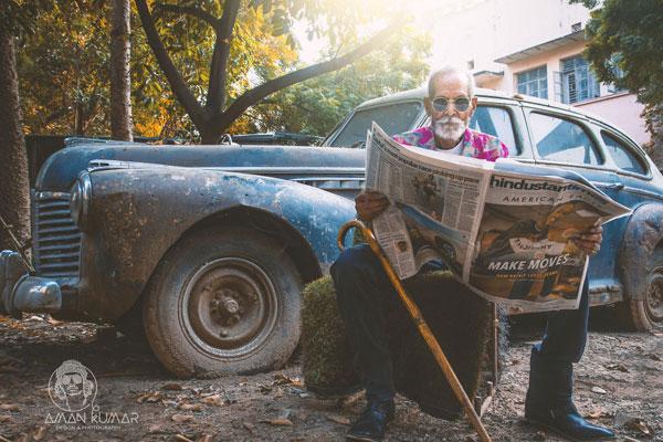 心态比什么都重要 98岁爷爷也玩时尚范儿