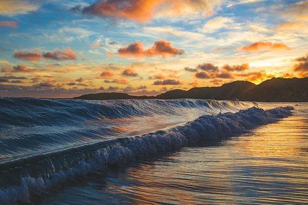 大海的平和面孔 摄影描绘大海的神奇境地