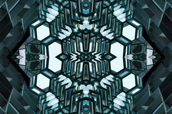 迷幻多彩的建筑视觉 几何对称的创意后期