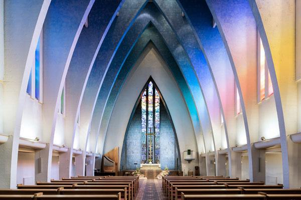 色彩构图完美呈现 焕然一新的现代风教堂