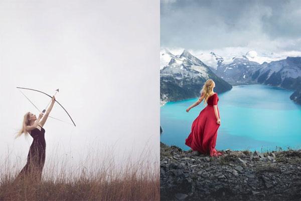 对自然的真实向往 融入自然的人像写真