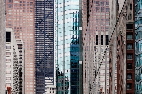 密不透风的纽约城 长焦视野下的密集楼宇
