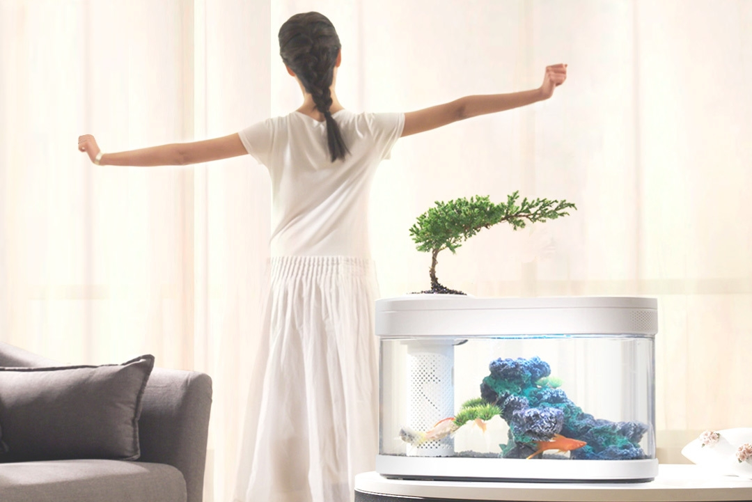 小米有品上架懒人鱼缸:上面养花 下面养鱼