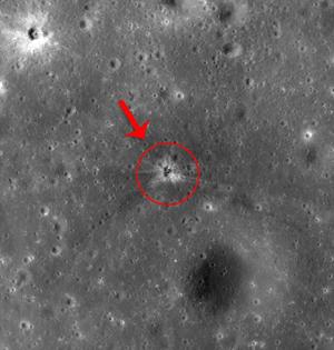月球发现阿波罗16号火箭撞击坑