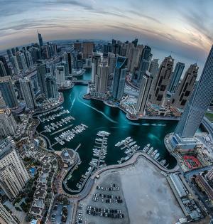 飞行员迪拜俯拍城市美景极尽奢华