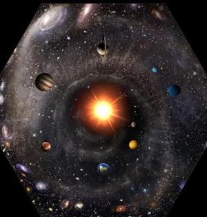 一张图画出整个宇宙:以太阳为中心