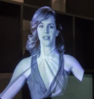 新全息影像可造物体空中旋转幻觉