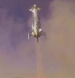 蓝色起源公司二次成功回收火箭