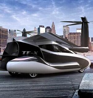 飞行汽车TF-X设计:坐它上下班