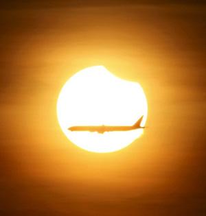 2016年唯一一次日食昨日上演