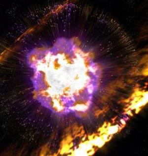 超新星爆炸地球上留放射性痕迹