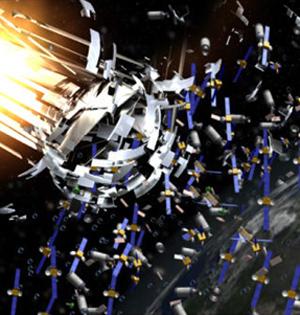 NASA二维宇宙飞船清理太空垃圾