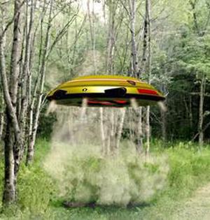 高科技声波飞碟能扑灭山林大火