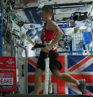 宇航员空间站跑马拉松:刷新纪录