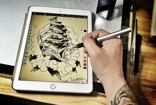 这是一个摇滚乐手用iPad Pro转行做纹身师的故事
