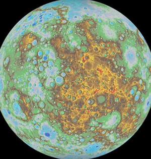 NASA绘制首张完整水星地形图