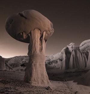 美西南部沙漠景观:如同外星世界