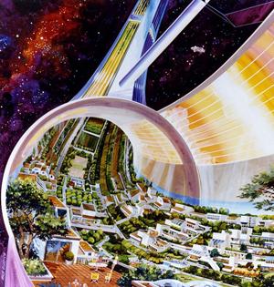 2100年太空殖民地:容纳数十万人