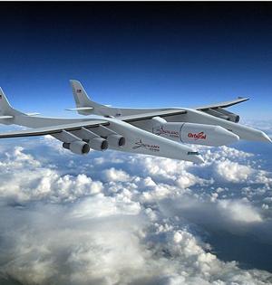 世界最大飞机将建成:机翼117米