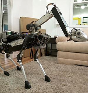 波士顿动力四足机器人:上下楼梯