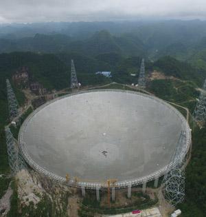 世界最大FAST望远镜主体完工