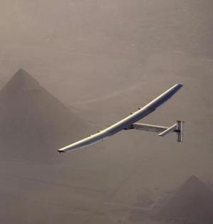 全球最大太阳能飞机抵达开罗