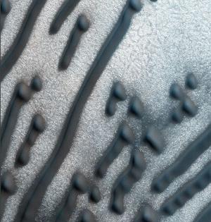 火星上的摩斯密码?北极线形沙丘