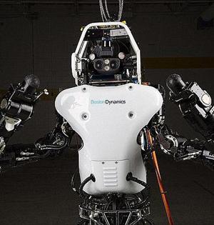 妹子森林遛狗巧遇类人机器人测试