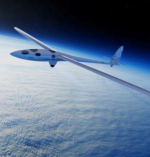 无引擎滑翔机利用地形波飞行