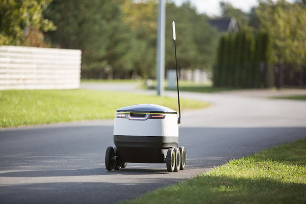 自动送货机器人走上街头 这是要抢人类的饭碗啊