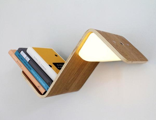 是书架也是台灯 你想做个书虫那就把它请回家