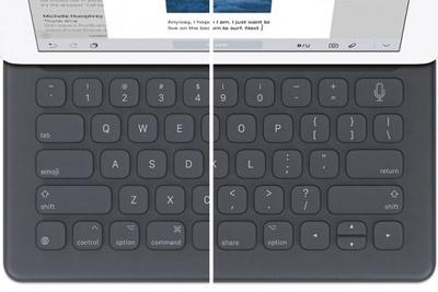 新一代iPad Pro智能键盘曝光 有分享按键