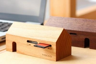 售价上千元 纯手工打造的实木读卡器