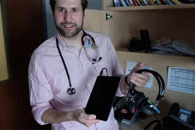 医生用iPad和相关应用 诊断听力损耗