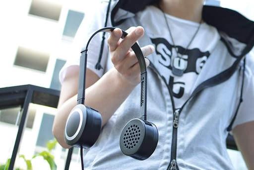 为了凉爽过炎夏 日本人发明了这款耳机风扇