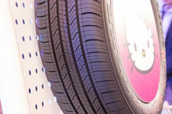 Hello Kitty版女生专用轮胎 感觉不能好好开车了