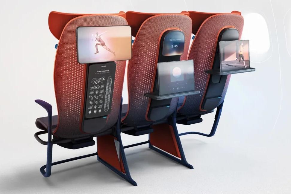新式飞机座椅 乘客能用App调节舒适度