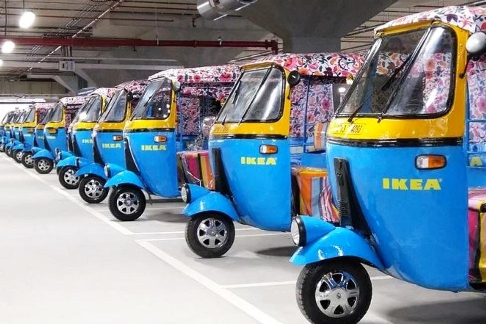 印度宜家的送货车 告诉你什么是绿色出行