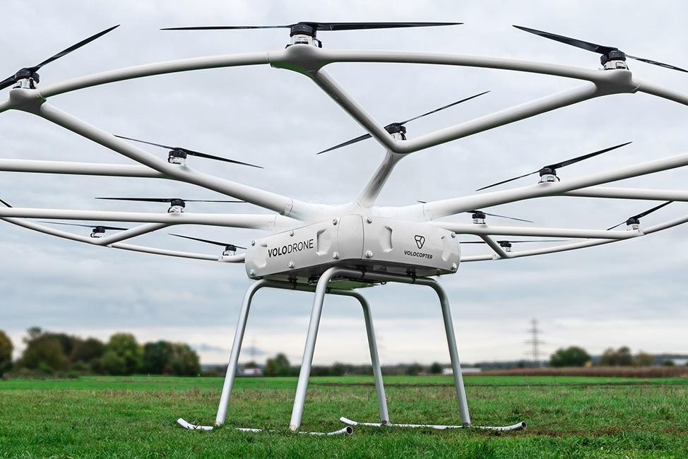 这个超大多轴无人飞行器 可运送200公斤重物